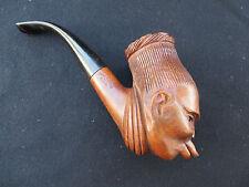 Rare Marxman Ubangi female Hand Carved Briar Tobacco Pipe black americana
