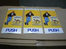 THREE (3) NEW  UNUSED Vintage JOE  CAMEL Smooth Character PUSH PULL Door Decals