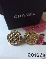 CHANEL Gold Coin CC Logo Clip on Earrings