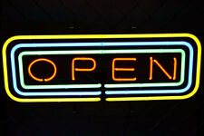 """Rare New Open Business Bar Logo Neon Light Sign 20""""x16"""""""