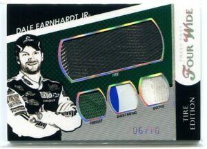 2010 Press Pass Four Wide Dale Earnhardt Jr. Firesuit Glove Tire Sheet Metal /10