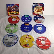 Classic Mac Windows 95 Kids CD Software Promos US History Spy Fox EA Astronomy