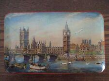 Vintage BLUE BIRD TOFFEE TIN London Bridge Big Ben scene