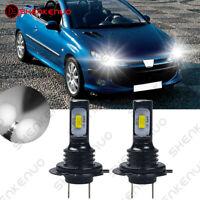 Für PEUGEOT 206 CC 2X H7 Abblendlicht LED Car Scheinwerfer Birnen Lampen Weiß