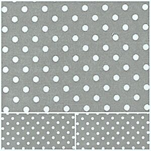 Silver Grey Polka Dot 5mm Polycotton Fabric NEW Craft Spot Metre MATERIAL
