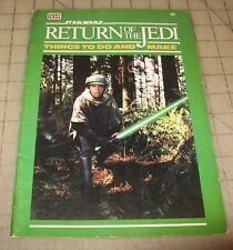 1983 Star Wars Return Of The Jedi Things to Do & Make Booklet in Fair Condition