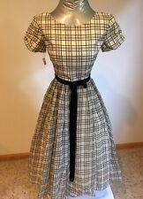 50s Retro Bullocks Wilshire Lined Fancy Fabric Dress Teen Jr Bust 30� Costume