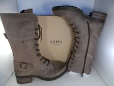 9971d5ce2e8c Taos Tall Crave Taupe Oiled Leather BOOTS Women s Size 10-10.5 US