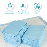LARGE PUPPY TRAINER TRAINING PADS TOILET PEE WEE MATS DOG CAT 100 PACK 5 FREE!