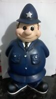 20 CMS TALL CHUBBY SMILING POLICEMAN FIGURE WITH ARMS BEHIND BACK FREE UK DELIV