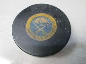 Vintage Buffalo Sabres Art Ross Game Used Hockey Puck Player Signed Converse