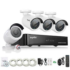 SANNCE HD 1080P 4CH HDMI NVR PoE IP Network Camera Outdoor Home Security System