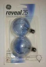 GE Reveal Clear 25 Watt Small Globe Bulbs 2 Pack