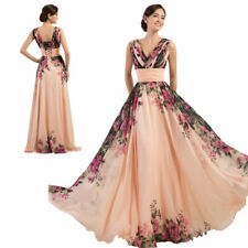 cab2db8bf24a9 New Formal Long Chiffon Prom Wedding Dress Bridesmaids Evening Floral Gowns