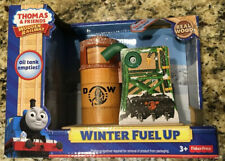 """Thomas & Friends Wooden Railway """"Winter Fuel Up"""" Interactive Oil Tank New in Box"""