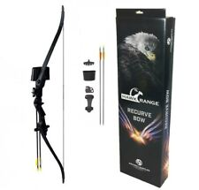 Kids Archery Set Recurve Bow Youth Junior Kit with 8 Arrows, Armguard, Quiver