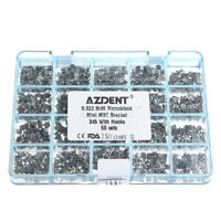 AZDENT Orthodontic Dental MIM Monoblock Bracket Braces Mini MBT 022 3-4-5 Hooks