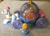 Fisher Price Little People Disney Princess Cinderella Carriage Coach Light&Sound