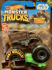 Hot Wheels 1:64 Chewbacca Monster Trucks DieCast Includes Connect And Crash Car!
