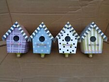Four Painted Tin Birdhouses Only From A Mackenzie Childs Birdhouse Chandelier