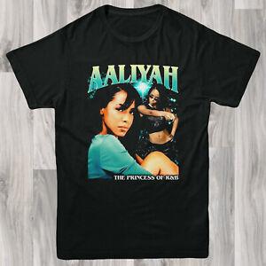 Aaliyah Band Tee T Shirt S-XL Retro Vintage Design Hip Hop Gangster Rap