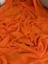 "3 mtr orange chiffon dress fabric..45"" wide (114cm)"