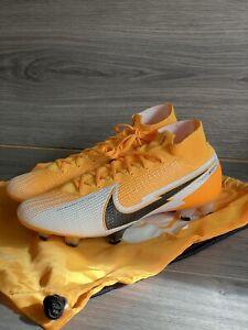 Nike Mercurial Superfly 7 Elite FG ACC Soccer Cleats Laser Orange sz 9.5 + Bag
