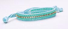 Increíble Azul Cuerda Pulsera Turquesa Perlas Chic espumosos Diamante Row (Cl18)