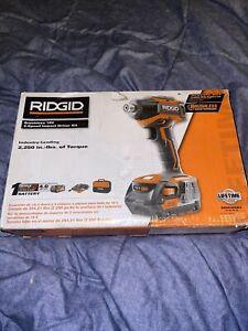 RIDGID R86038SB3 GEN5X 18V Brushless 3-Speed Impact Driver 4Ah Bat Kit R86038