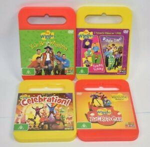 The Wiggles 4x DVD Bundle PAL ABC Kids Childrens Original Wiggles Free Postage