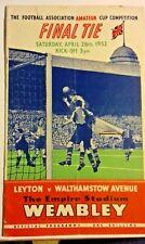 More details for leyton v walthamstow avenue f.a. amateur cup final programme 26th april 1952.ve.