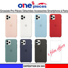 Coque iPhone 12 11 Pro Max X Xs Max Xr 7 8 Plus SE  Silicone Modèle Officiel