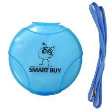Smartbuy 12 Disc CD DVD Storage Organizer Hard Plastic Holder Case w/ Blue Strap