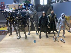 Marvel Legends MCU Villains Loki Ultron Vulture - Lot Of 6 Figures - USED
