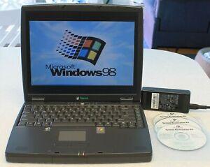 Gateway Laptop Windows 98se,20GB HD,256MB RAM,CD/DVD,Charger,Factory Restore CDs