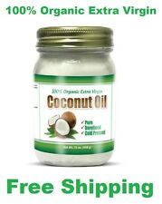 100% Organic Extra Virgin Coconut Oil Unrefined Cold Pressed Gluten Free