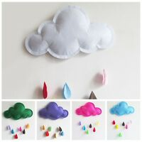 Lovely Removable Cloud Raindrop Wall Stickers Decals Mural Baby Kids Room Decor