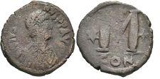 Ancient Byzantine 518-527 Justinian I Constaninople Large Follis #2