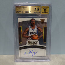 ANDREW WIGGINS Timberwolves 2014-15 Select ROOKIE AUTOGRAPH #/  GRADED BGS 9.5