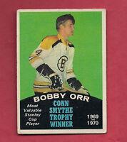 1970-71 OPC  # 252 BRUINS BOBBY ORR  CONN SMYTHE  TROPHY CARD