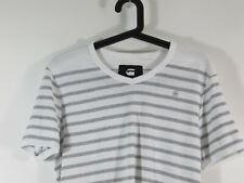 G-Star Herren T-Shirt Kantano - Slim Fit gestreift grau/weiß Größe L