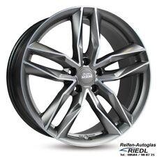 19 Zoll MAM RS3 Felgen 8,5x19 Et45 5x112 MATT PALLADIUM FRONT POLISH Audi VW NEU