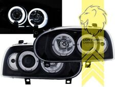 LED Angel Eyes Scheinwerfer für VW Golf 3 Limousine Variant Cabrio schwarz