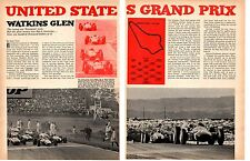 1966 UNITED STATES GRAND PRIX / WATINS GLEN ~ ORIGINAL 4-PAGE ARTICLE / AD