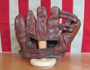 Vintage 1951 Wilson Leather Baseball Glove Split Finger Mitt Ted Williams A2210