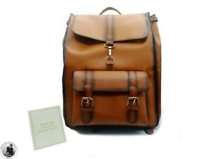 Handmade Men's Genuine Brown Shaded Leather  Custom Design  backpack rucksack