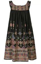 KATE MOSS ETHNIC FESTIVAL FOLK AZTEC INDIAN PRINT BOHO GYPSY DRESS 12 40