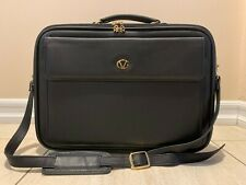 Vintage Genuine Black Leather Briefcase