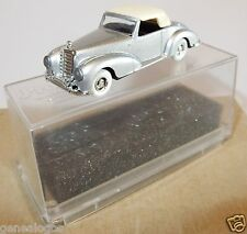 MICRO PRALINE HO 1/87 MERCEDES DB 300 S CABRIOLET FERME GRIS CLAIR METAL in BOX