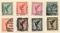 DR 378 - 384, Flugpostmarken 1926 gestempelt, #a511